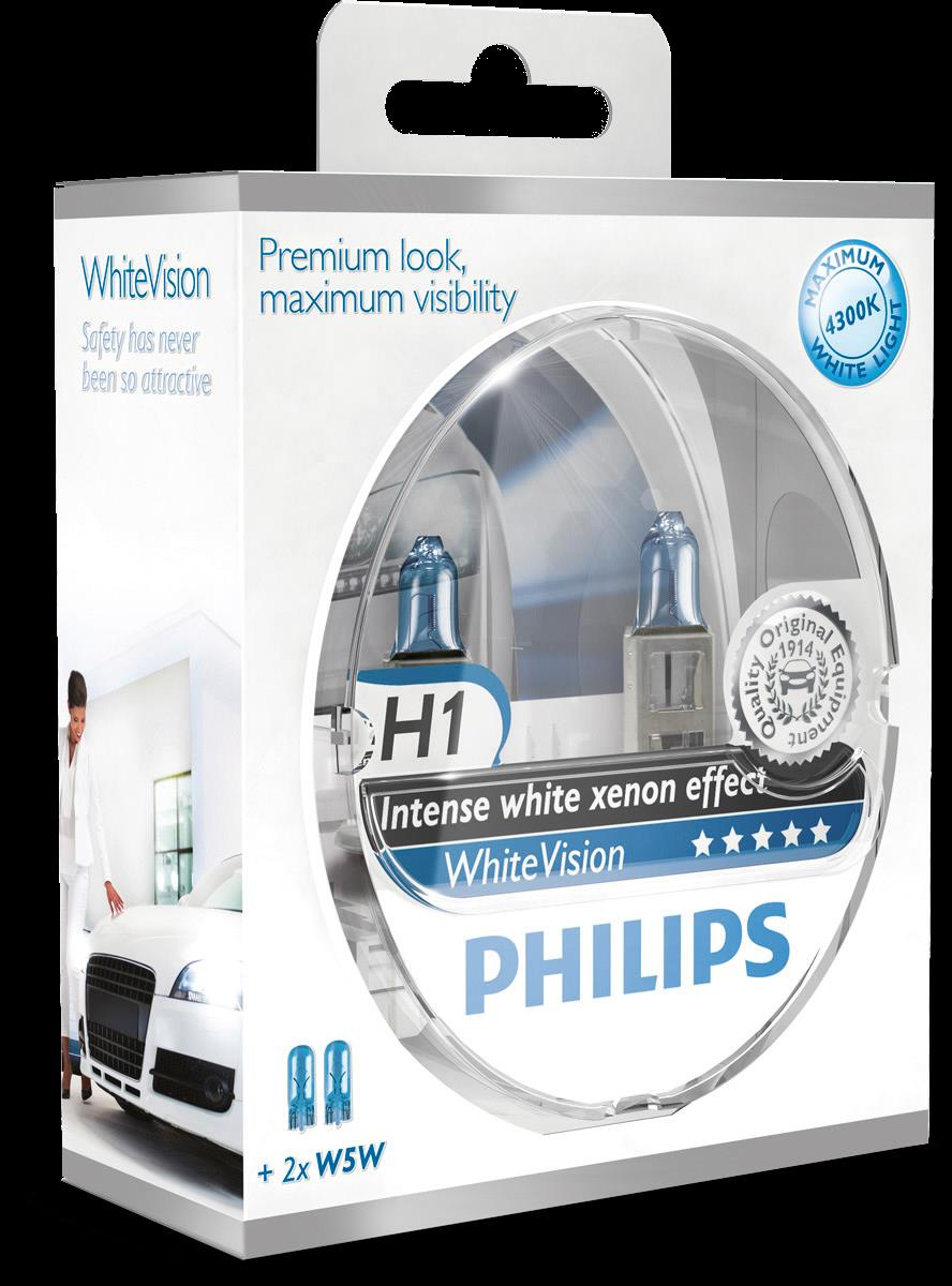 BEC AUTO PHILIPS 12258WHVSM H1 WHITE VISION 12V 55W