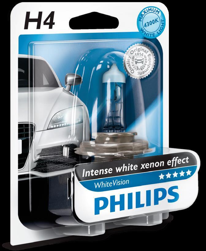 BEC AUTO PHILIPS WHITEVISION 12342WHVB1 H4 12V 60/55W