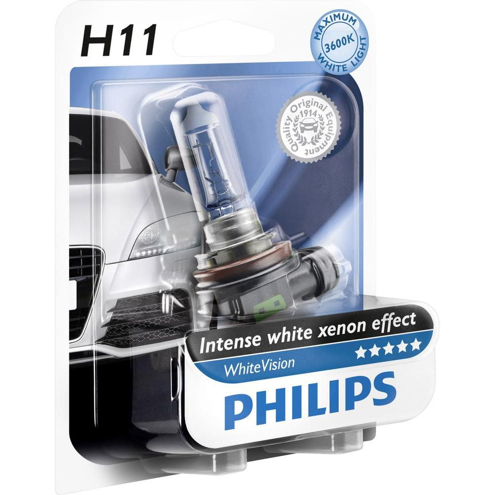 BEC AUTO PHILIPS WHITE VISION HALOGEN 12362WHVB1 H11 12V 55W