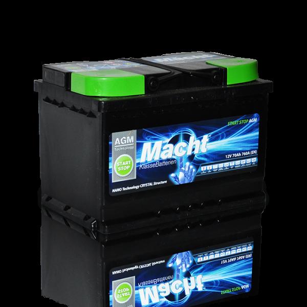 Baterie auto MACHT 25944 AGM 12V 70AH 760A