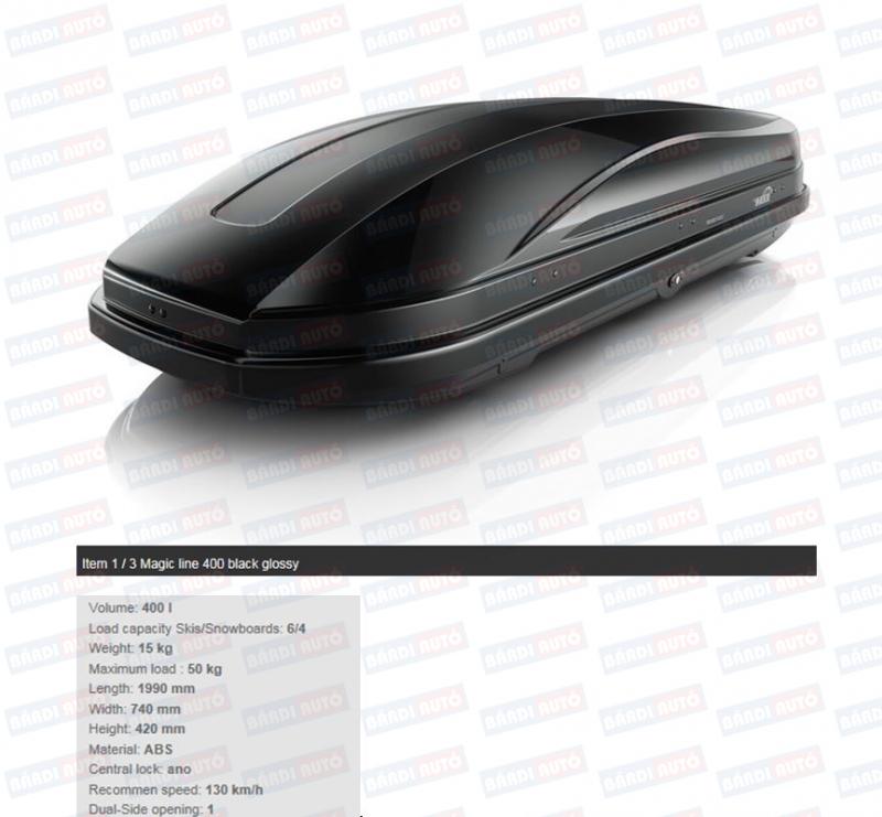 Portbagaj pentru pavilion Magic 400L Black Glossy