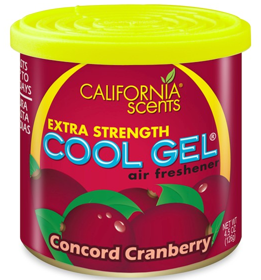 CUTIE 125G ODORIZANT COOL GEL CONCORD CRANBERRY CALIFORNIA SCENTS