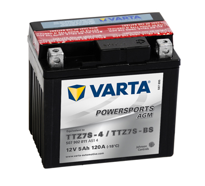 Baterie motocicleta VARTA 507902011A514 Funstart AGM TTZ7S-BS 12V 5AH, 120A