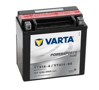 Baterie motocicleta VARTA 512014010A514 POWERSPORTS AGM YTX14-BS 12V 12AH, 200A