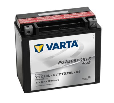Baterie motocicleta VARTA 518901026A514 Funstart AGM YTX20L-BS 12V 18AH, 250A