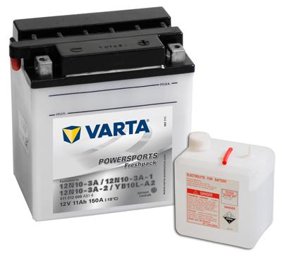 Baterie motocicleta VARTA 511012009A514 Funstart Freshpack YB10L-A2 12V 11AH, 150A