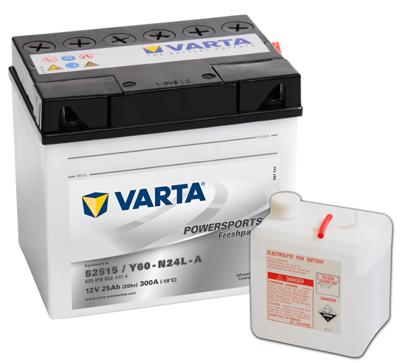 Baterie motocicleta VARTA 525015022A514 Funstart Freshpack 12V 25AH, 300A