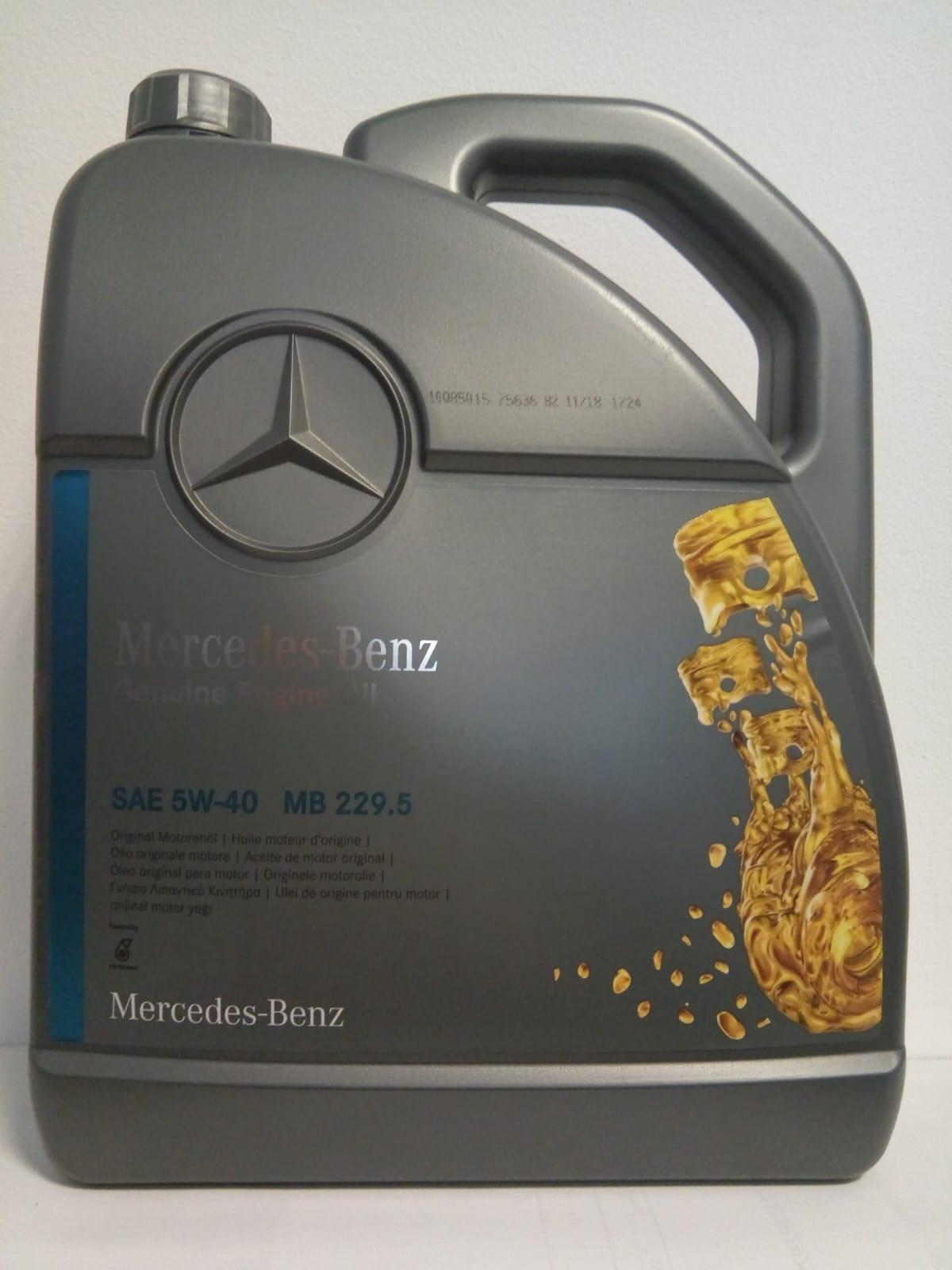 ULEI MOTOR ORIGINAL MERCEDES BENZ A0009898301BAA4 5W40 (MB 229.5) 5L