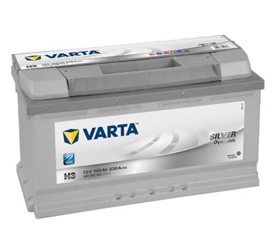 Baterie auto VARTA H3 6004020833162 Silver Dynamic 12V 100AH, 830A